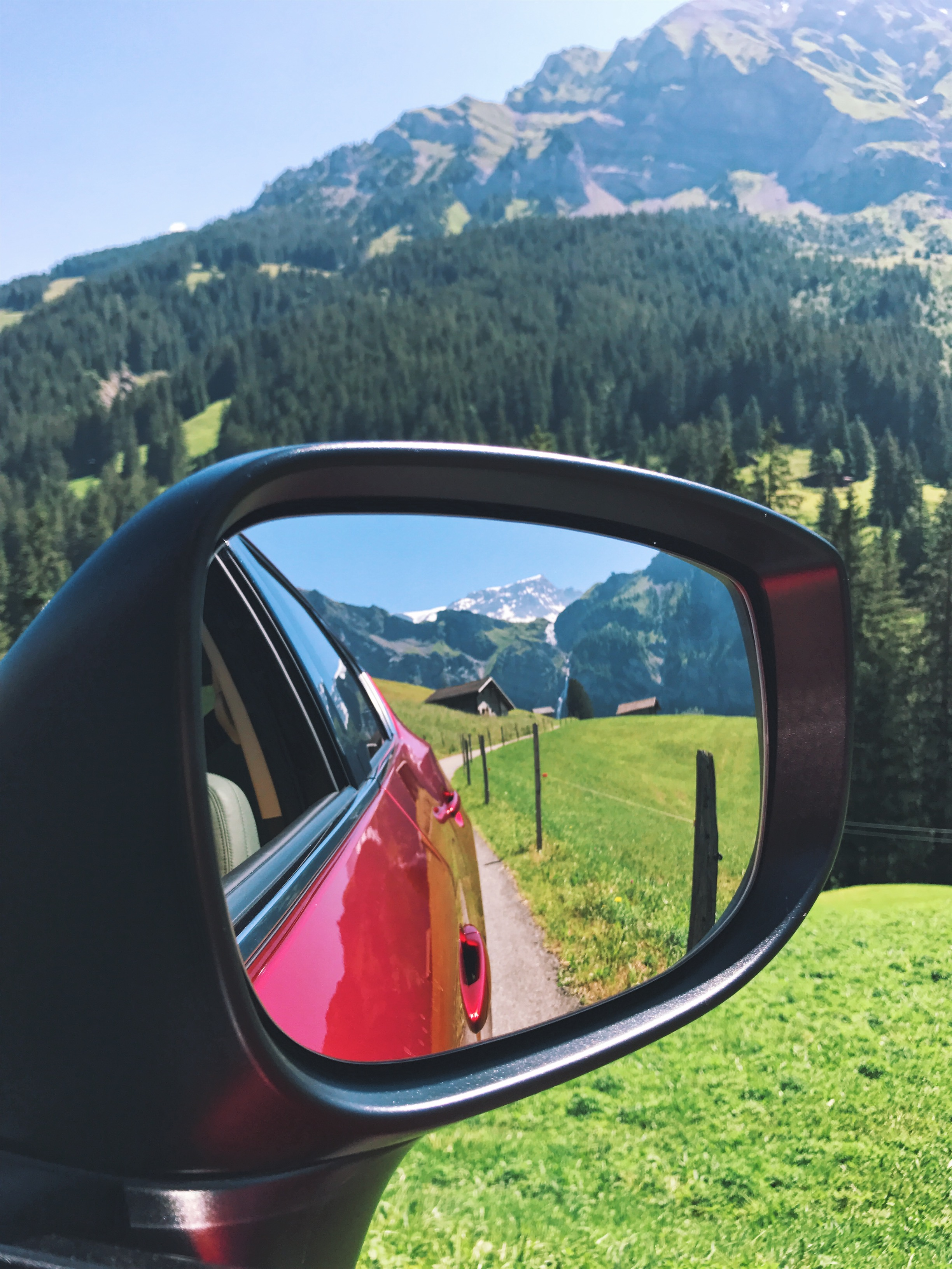 Views on the road trip through Switzerland in the Alps