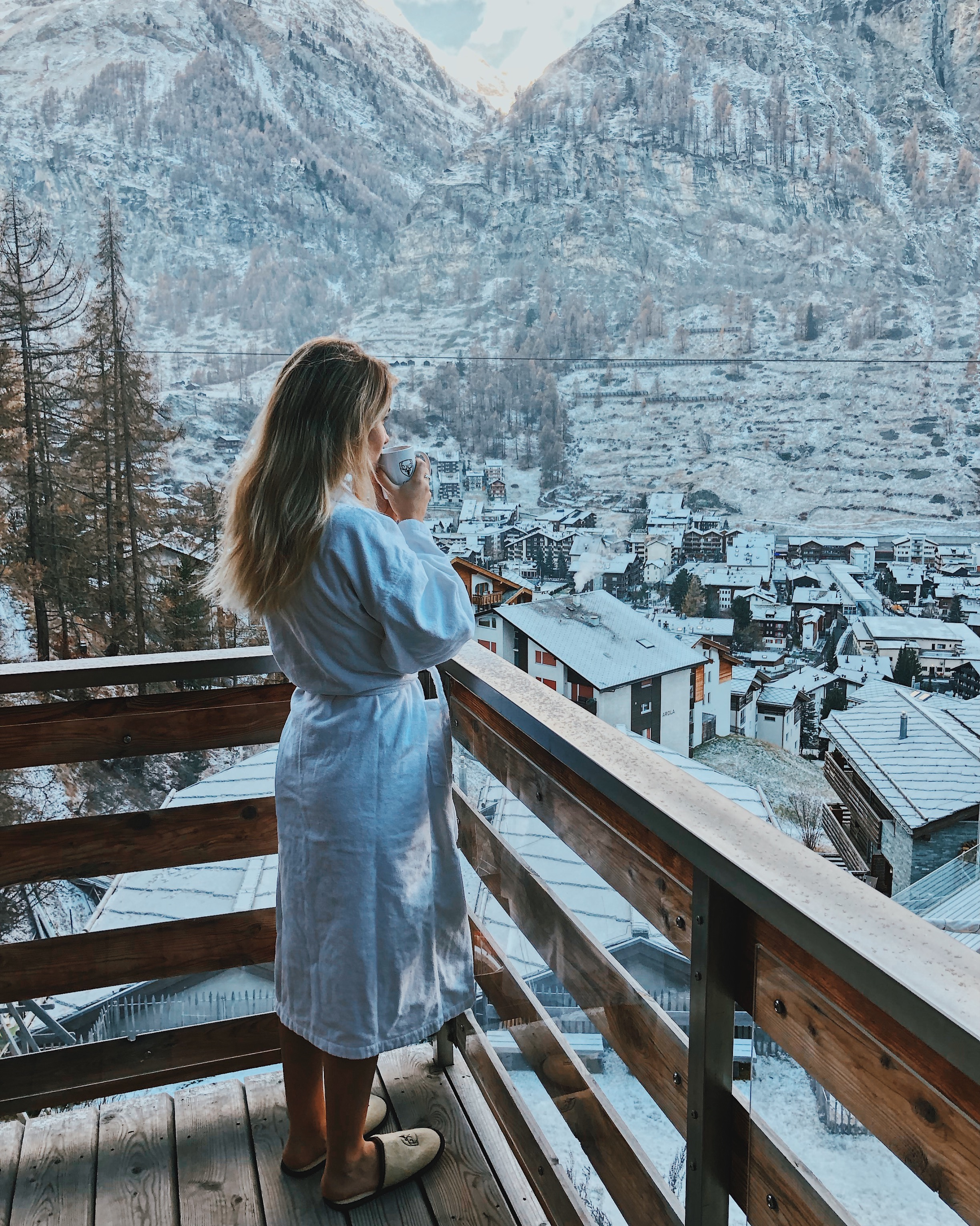 Morning views at Cervo Zermatt